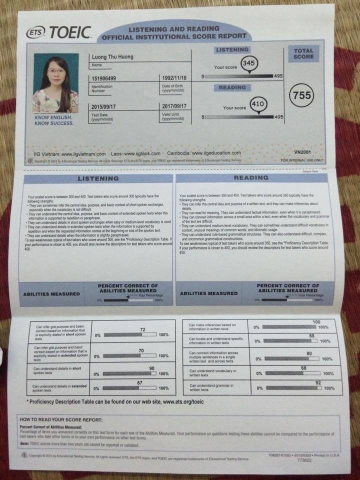 Anh ngữ Athena, TOEIC, tiếng anh mất gốc