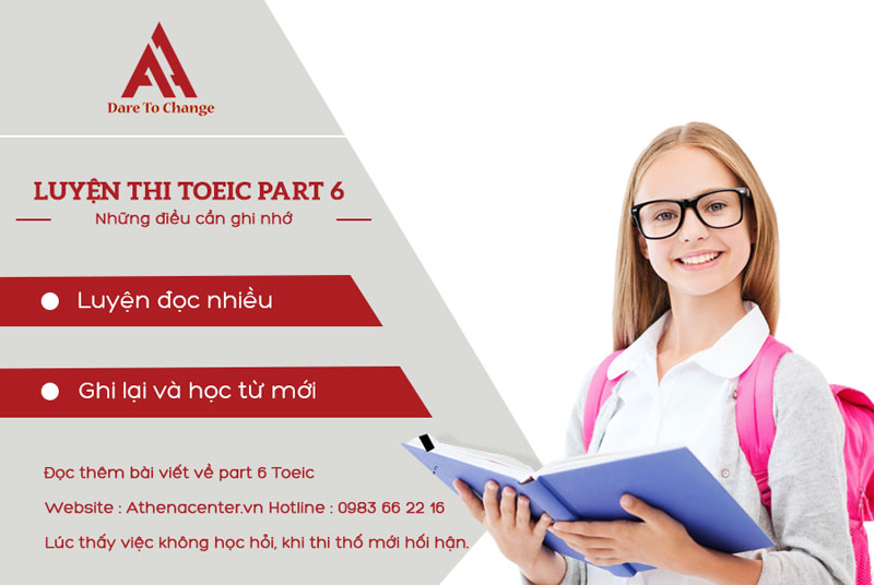 luyện thi part 6 toeic - anh ngữ athena