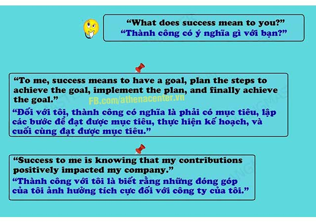 phỏng vấn về ý nghĩa thành công - anh ngữ athena